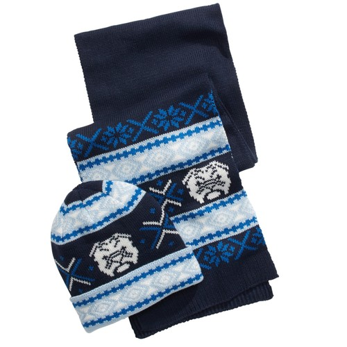 Club Room Men's Bulldog Hat & Scarf Set Blue Size Regular