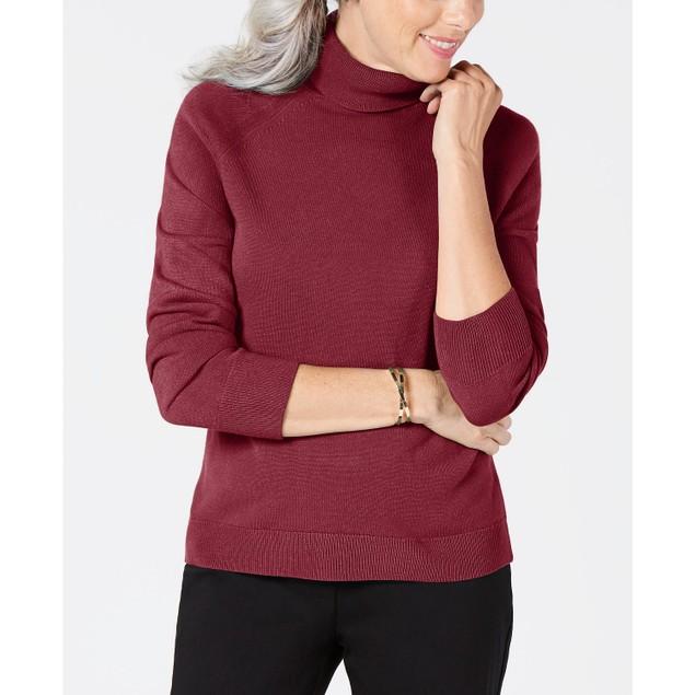 Karen Scott Women's Turtleneck Sweater Med Purple Size XX-Large