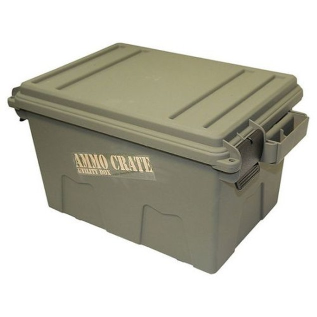 "MTM ACR718 Army Green 8.5"" Deep Ammo Crate Utility Box"