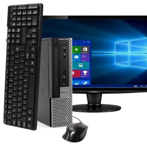 "Dell 7010 Ultra Small Computer Intel i5 8GB 120GB SSD Win 10 Pro 22"""