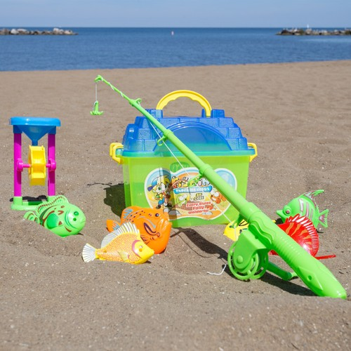 Kids Toy Fishing Set with Magnetic Fishing Pole