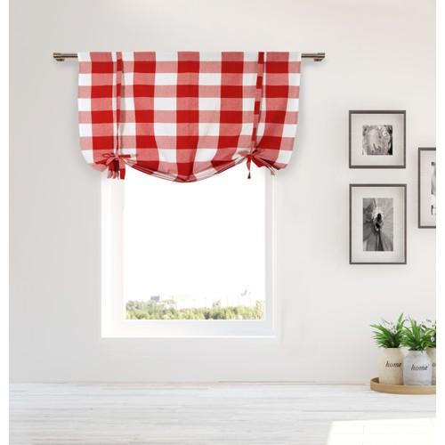 Kingston Buffalo Check Tie-Up Curtain