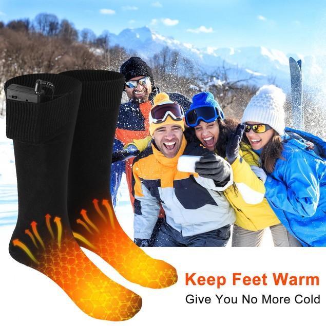 Unisex Electric Heated Socks Warm Thermal Socks