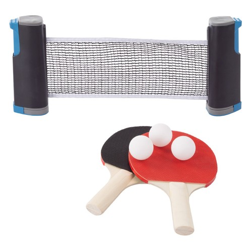 Table Tennis Set  Portable Instant Two Player Game with Retractable Net