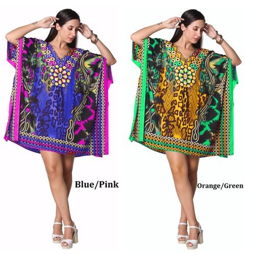 Short Kaftan Kimono Dress - Plus Size Available