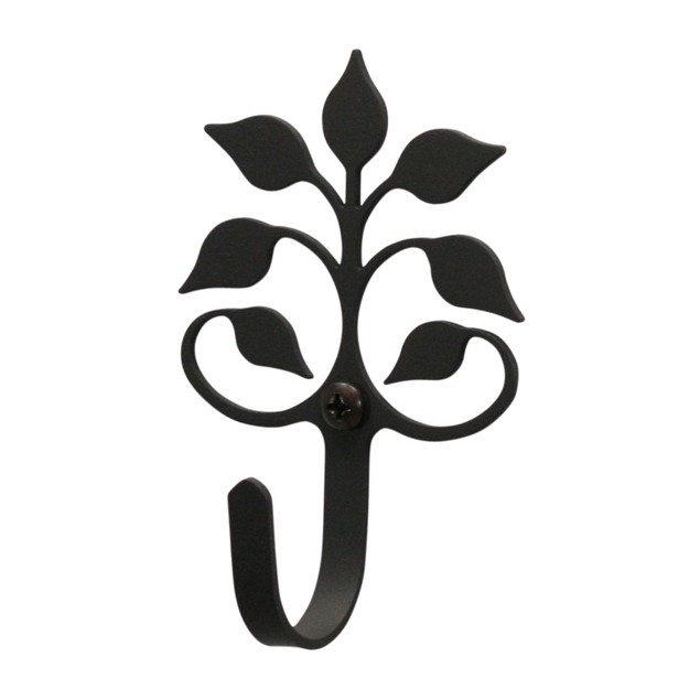 Village Wrought Iron Leaf Fan Metal Coated - Wall Hook Extra Small