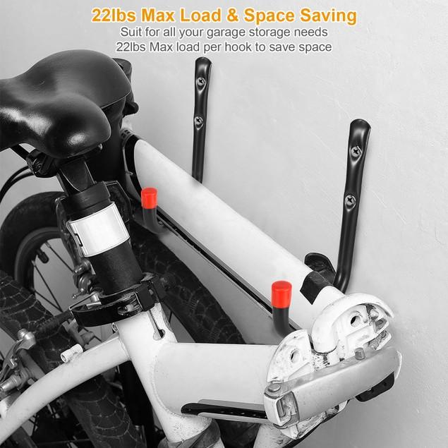 6 Packs Garage Storage Hooks 22lbs Load Bike Bicycle Hooks