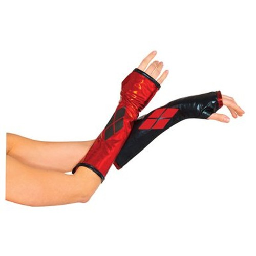 Harley Quinn Fingerless Glove Gauntlets