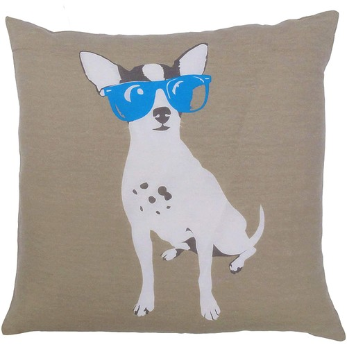 2-Pack Dog with Sunglasses Decorative Pillowcase