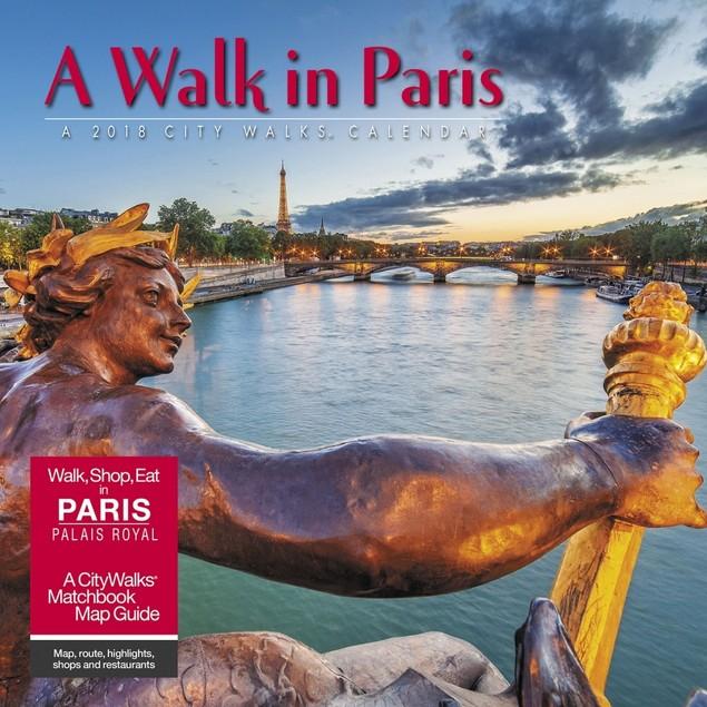Walk in Paris Wall Calendar, France by Calendars