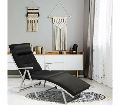 Costway Folding Chaise Lounge Chair with Cushion Was: $299.99 Now: $144.99.