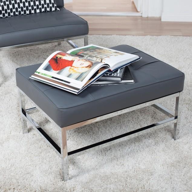 Studio Designs Ashlar Ottoman - Grey