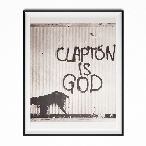Clapton Is God Photo Poster 11 x 17