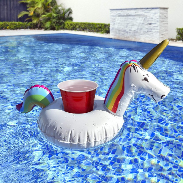 6-Pack Unicorn Pool Drink Holder Float
