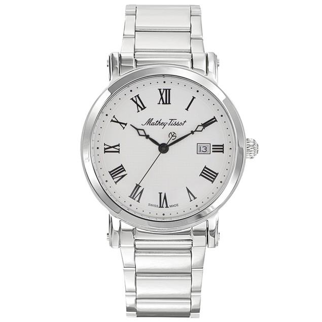Mathey Tissot Men's City Metal White Dial Watch - H611251MABR