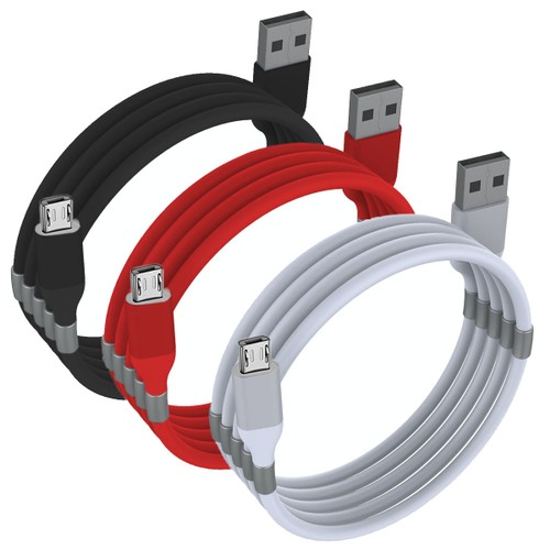 Magnetic Lightning USB Charging Sync Cable For Android Devices (Micro USB B)