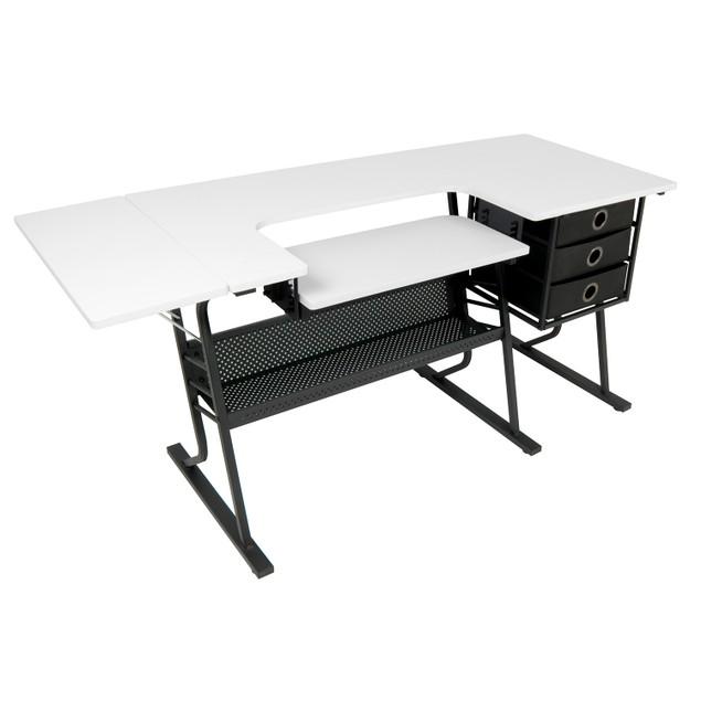 Studio Designs Eclipse Hobby/Sewing Center - Black/White