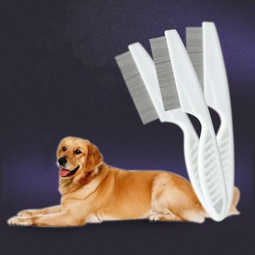 2Pcs White Small Pet Flea Comb