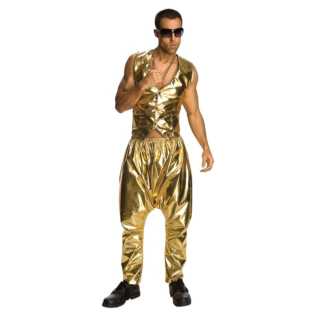 Gold MC Hammer Parachute Pants