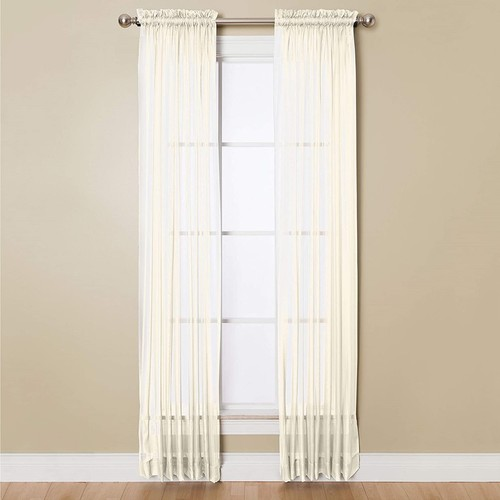 """Miller Curtains Sheer Angelica Volie 59"""" x 95"""" Panel"""