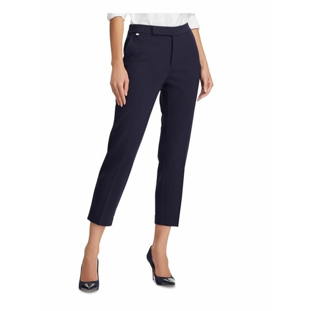 Ralph Lauren Womens Navy Stretch Ponte Formal Pants Blue Size Medium