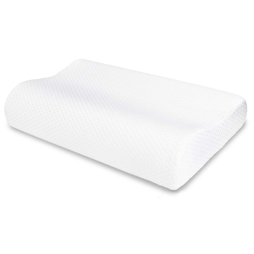 White Memory Foam Contour Pillow Sleeper-Relieve Neck Soft Memory Foam