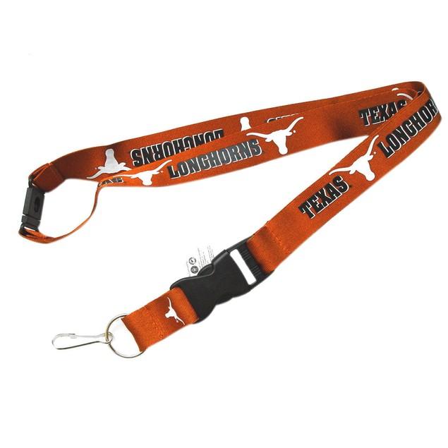 Texas Longhorns Clip Lanyard Keychain ID Holder-Orange
