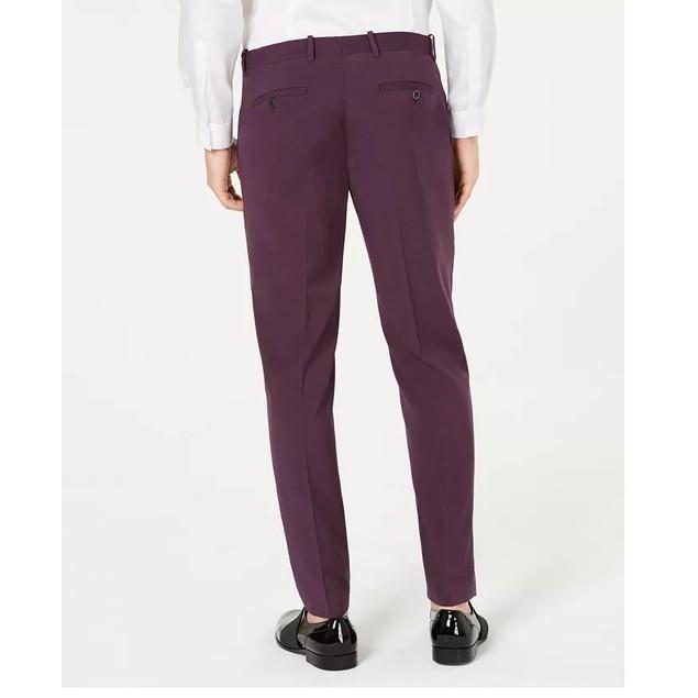 INC International Concepts Men's Slim-Fit Purple Pants Purple Size 33X30