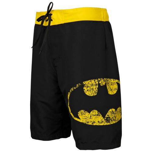 Batman Symbol Heather Black Board Shorts (S-3XL)