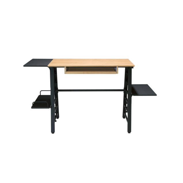 Calico Designs Ashwood Convertible Desk - Ashwood/Graphite