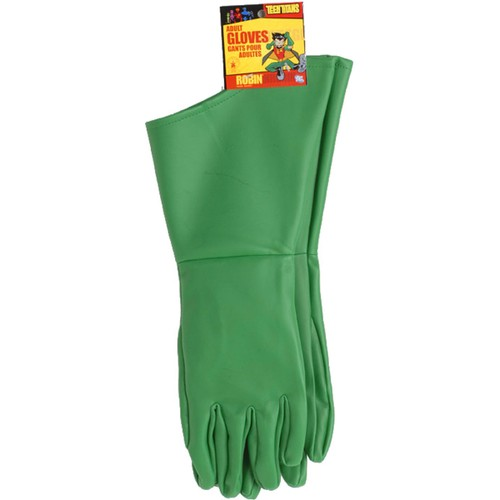 Robin Adult Gloves From Batman Costume Accessory Super Hero Sidekick Mens