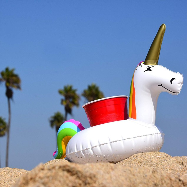 6-Pack Unicorn Pool Drink Holder Float