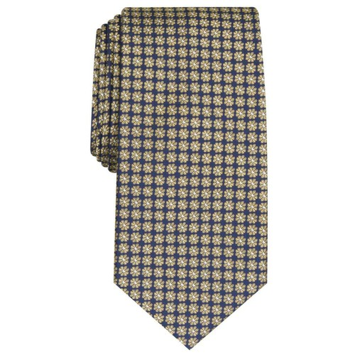 Club Room Men's Tulip Neat Tie Yellow Size Regular