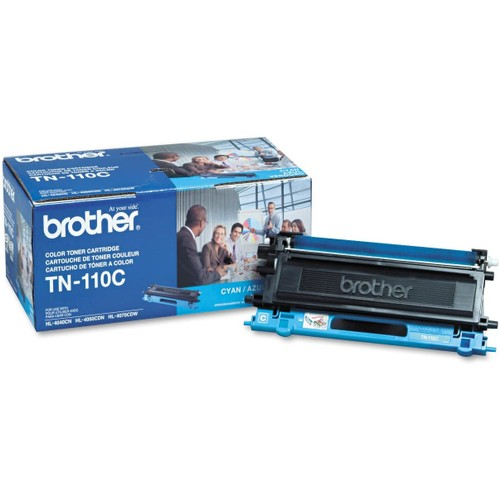 Brothers Brother TN-110C (Brother TN110C) Laser Toner Cartridge - Cyan, Works for DCP-9040CN, DCP-9045CDN, HL-4040CDW, HL-4040CN