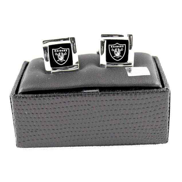 NFL Square Cufflinks with Square Shape Logo Design Gift Box Set