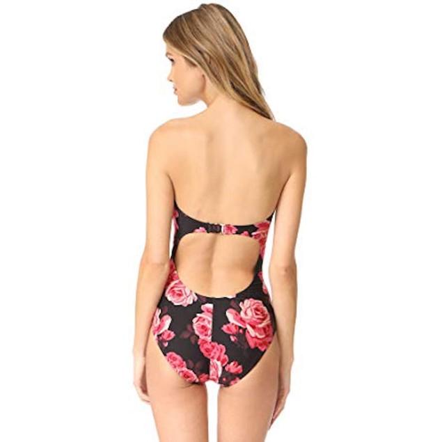 New Kate Spade New York Women's Rosa Swimsuit, Black, Sz Medium