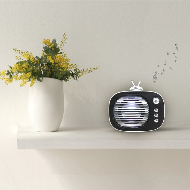Zummy Retro Bluetooth Speaker Vintage Wireless Speaker with Phone Stand
