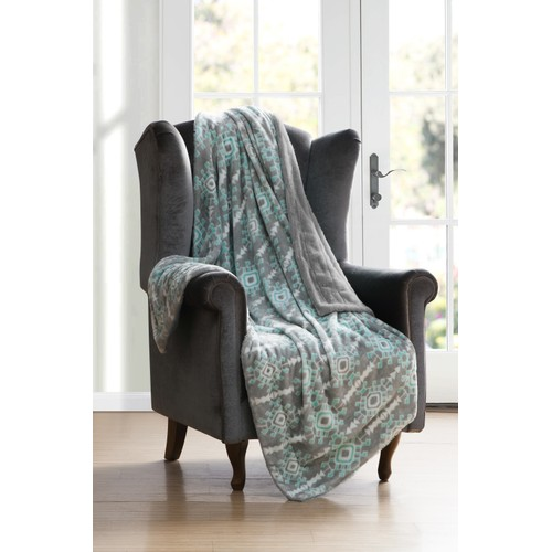 Kensie Reversible Ultra-Soft Sherpa Fleece Throw Blanket