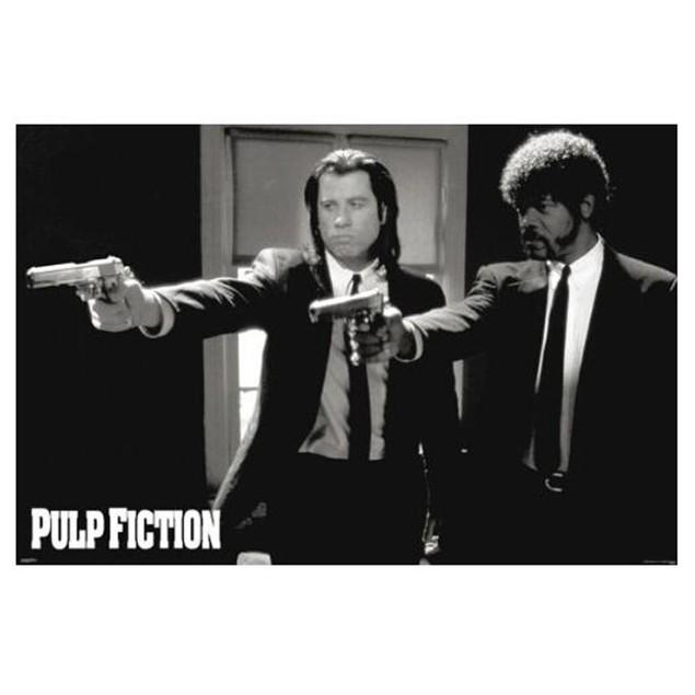 Pulp Fiction Duo Guns Poster