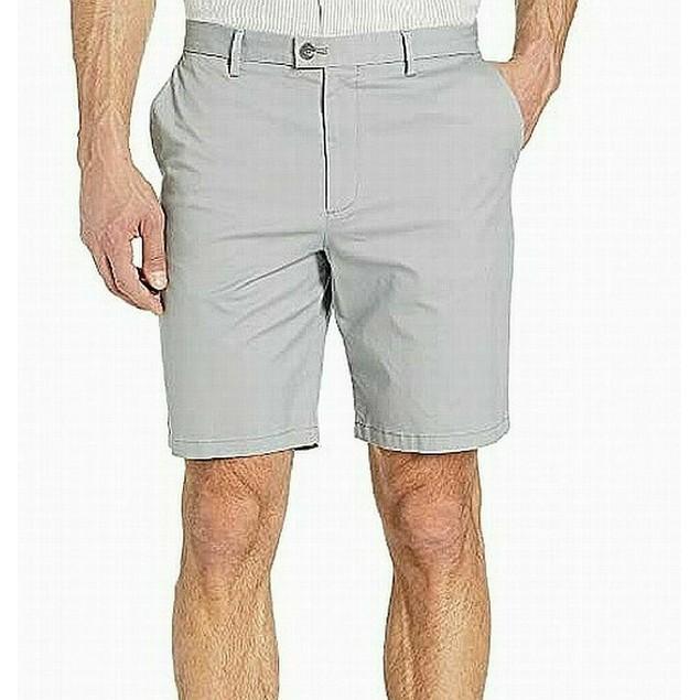 "Calvin Klein Men's Refined Edit Stretch 9"" Shorts Gray Size 40"
