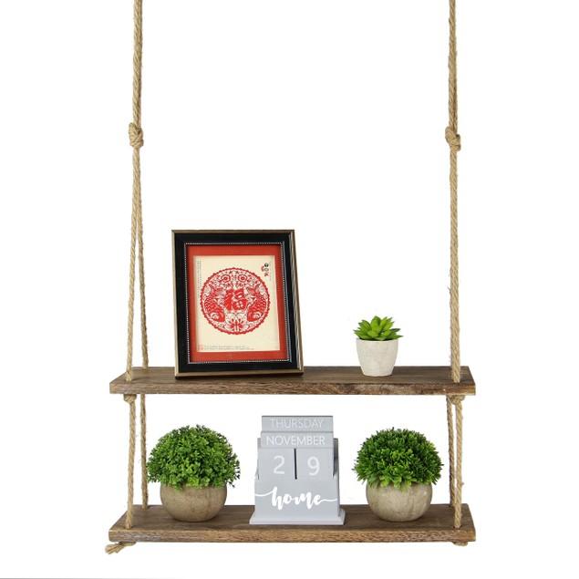 Wooden Hanging Shelf | MandW 2 Tier