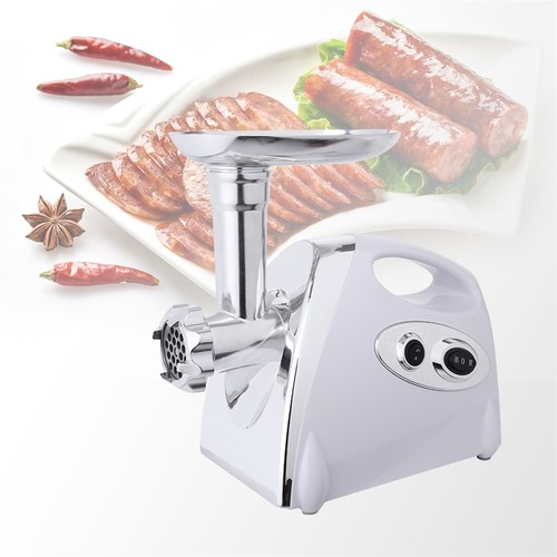 Electric Meat Grinder Sausage Maker with Handle White