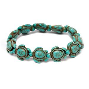 Handmade Genuine Turquoise Hawaiian Sea Turtle Bracelet