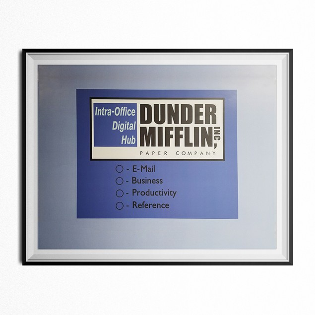 Dunder Mifflin Intra-Office Digital Hub Poster 11 x 17