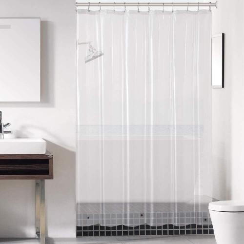 Clear Shower Curtain 71x71'' EVA Liner Bathroom Plastic Shower Curtain