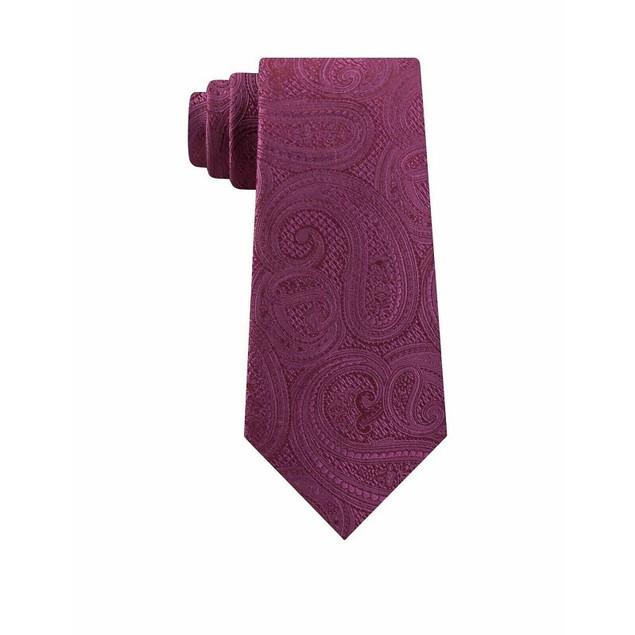 Michael Kors Men's Rich Texture Paisley Silk Tie Pink One Size