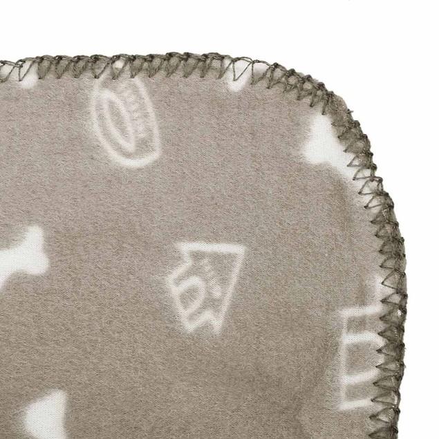 Dog Bone Dog House Pet Fleece Blanket for Pets