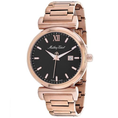 Mathey Tissot Men's Black Dial Watch - H410PN