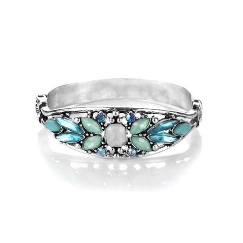 Novadab Geo-patterned Multicolored Crystal Charm Bracelet