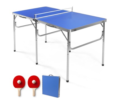 60'' Portable Folding Ping Pong Table with Accessories Was: $219.99 Now: $94.99.